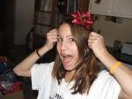 Alana made me a headband for the race