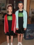 Gabrielle and Ashlea ready to go for a run!!