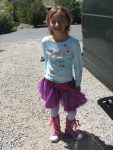 Seriously this kids fashion is inspiring!  I could take a picture of her every day and you'd be amazed.  She rocks!!