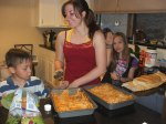 Brianna and some of the kids making dinner for Mothers Day