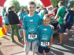 Nicolas and Samuel ready for the 1 mile run