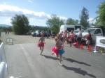 Alana, Gabrielle and Ashlea finishing