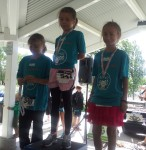 Kezia on right getting her 2nd place medal