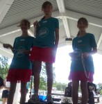 Ashlea 1st, Gabrielle 2nd and Alana 3rd place