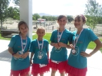 4 of the girls after getting their medals