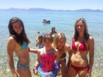 Bri, Gabi, Olivia and Me - I think Olivia is a riot in this shot!!