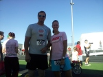 David - a running partner - who helped pace me