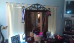Where my medals were hanging in a lump on the left of my dresser mirror