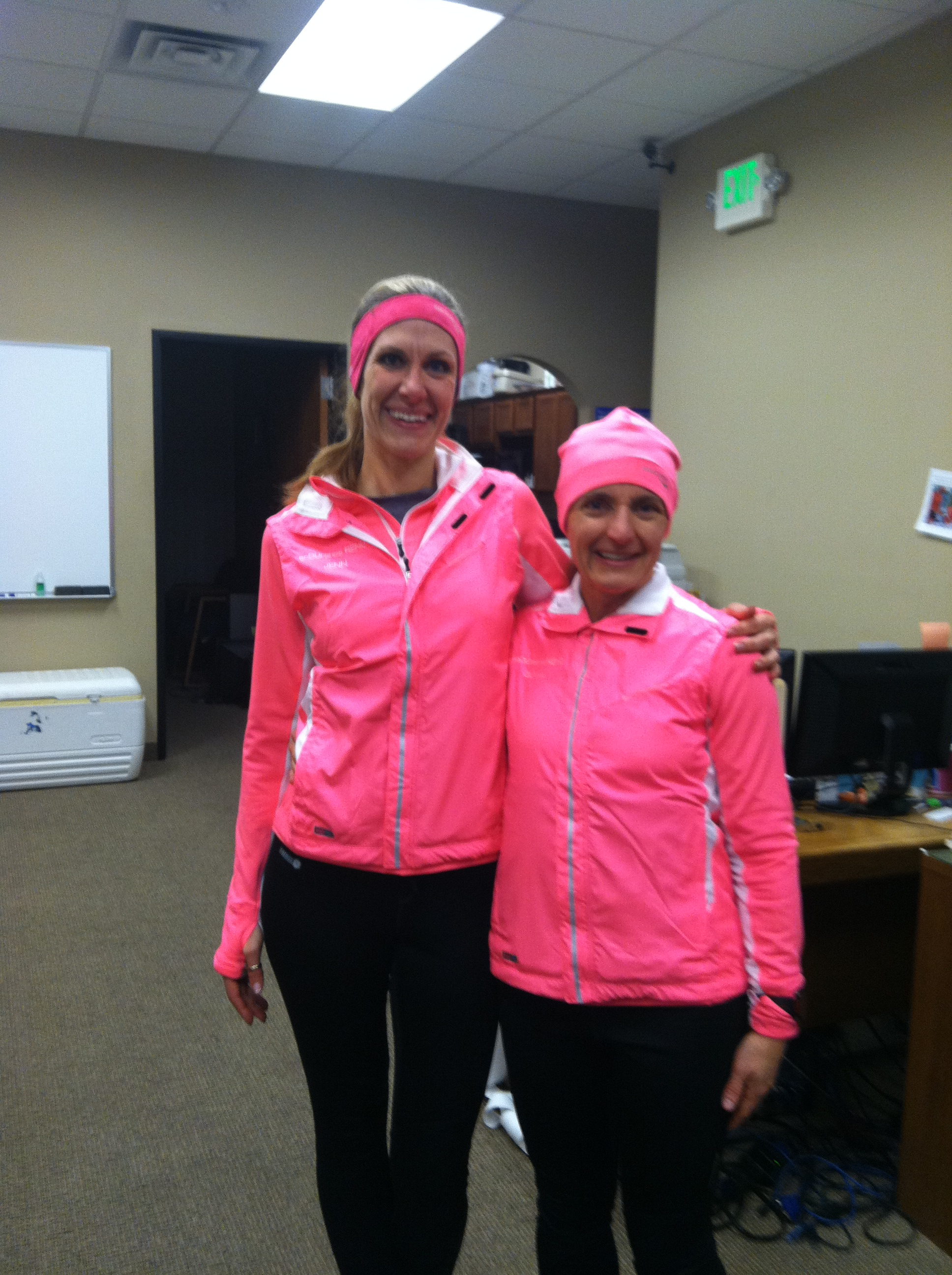 Olivia and me in our team gear post 8 mile run!!!