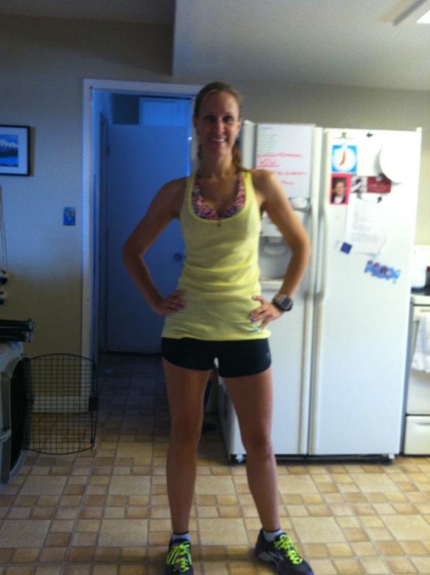 Feeling like a new woman!!!  Oiselle shorts and shirt, BodyRock Sport Sophie bra