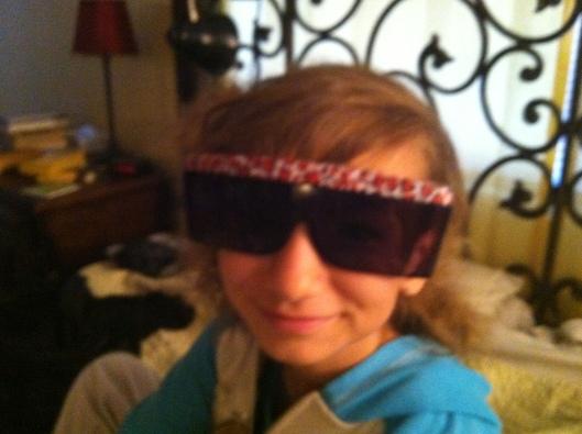 Kezia's new glasses