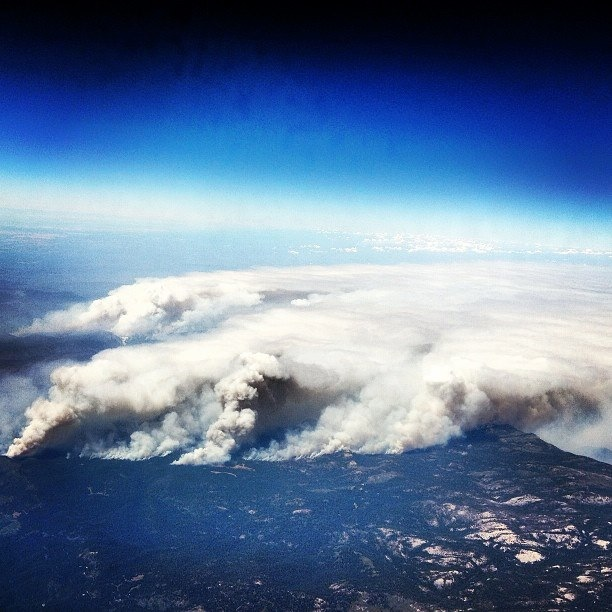 Arial photo of the smoke and fire.  Just wow.....
