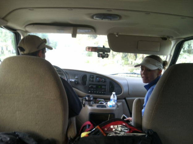 Dan driving my van with his wife (and my lovely friend) as co-pilot.  So fun!