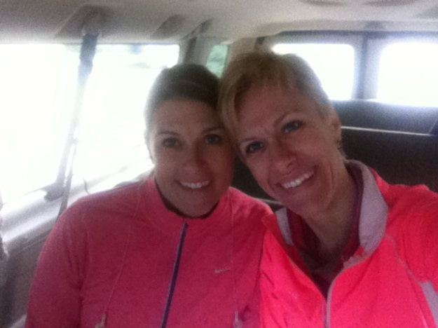 Shauna and Me in the van en route to the race.  I feel blessed to have spent time together