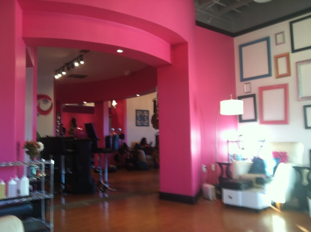 It's a lot of pink in here