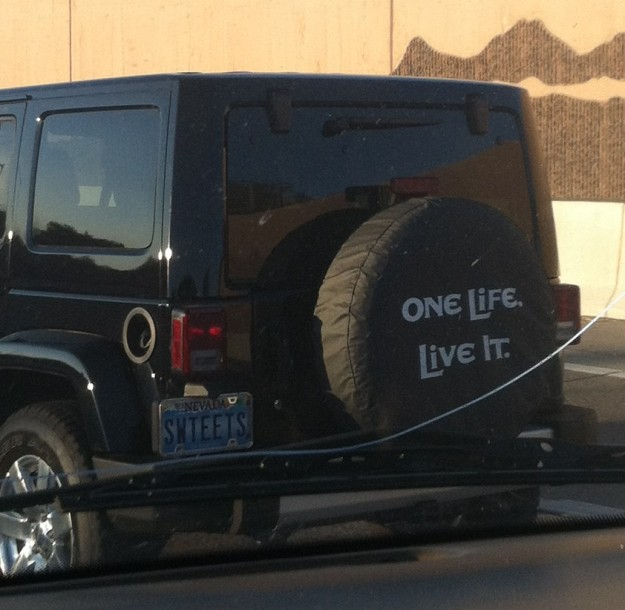 Saw this on my way to meet my friends for the trip.  Okie dokie!!