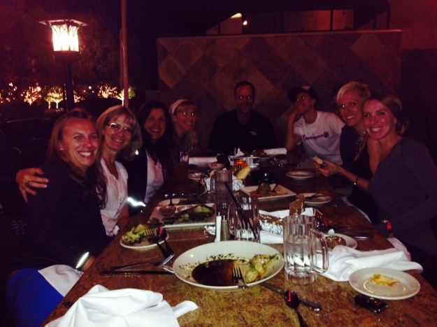 Dinner with a big, crazy bunch of people I love!!!!