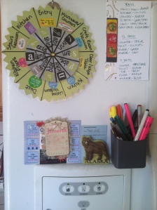 My fridge and the dreaded chore wheel...