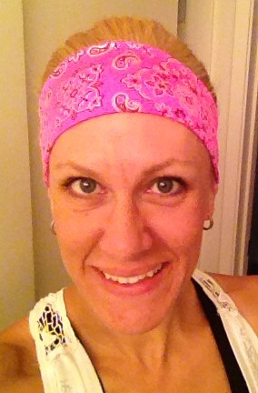 Early morning pre-race puffy eyes and my new Bolder Band