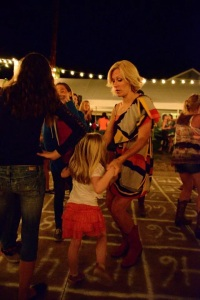 Tavin and I cut a serious rug at the Hoedown!!