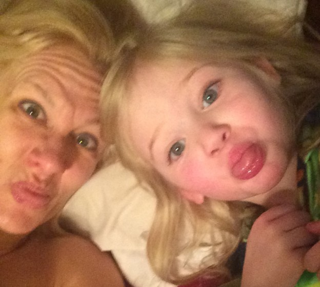 The Munchkin and I can wake up and get our exercise on